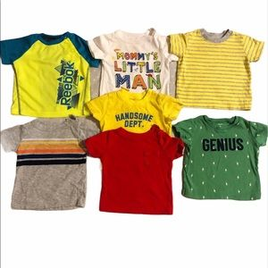 Bundle Lot of 7 t shirts baby 6 months boy tops